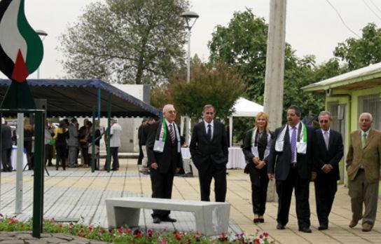Al Damir: Municipio de Chillán reinaugura Plaza Palestina